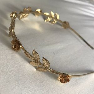 Gold flower Headband